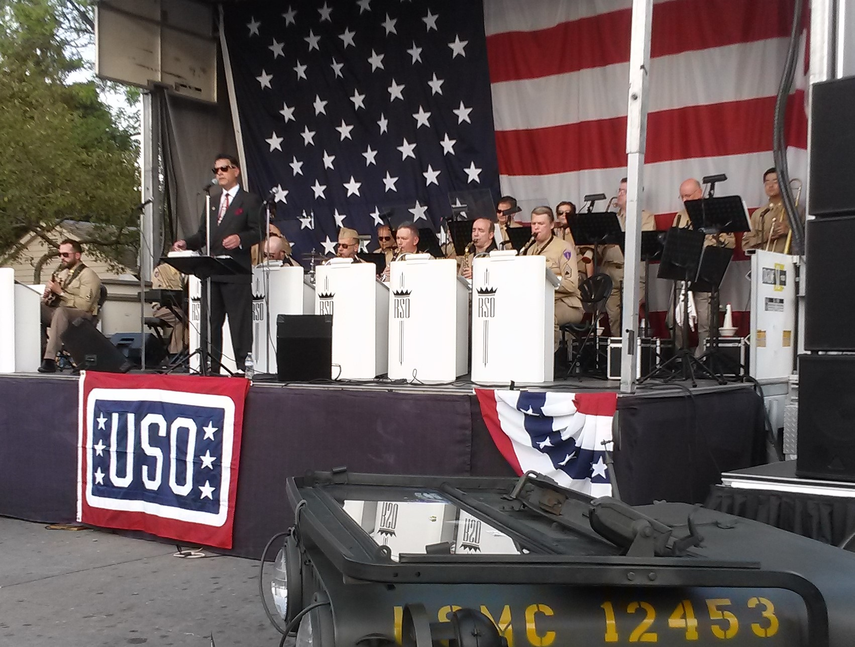 Rhythm Society performing at Greenfield Village for a World War Two tribute event